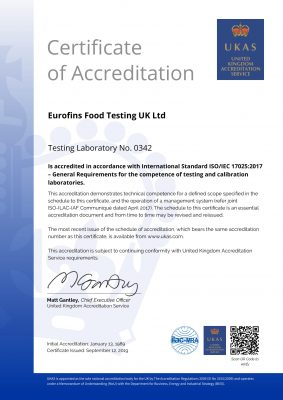 Eurofins Accreditation