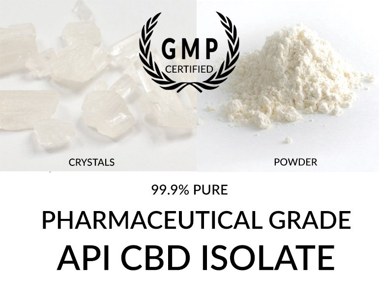 API CBD Isolate 99.9% Pure Pharmaceutical Grade CBD Cannabidiol
