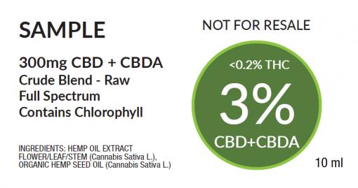 3% Natural Label