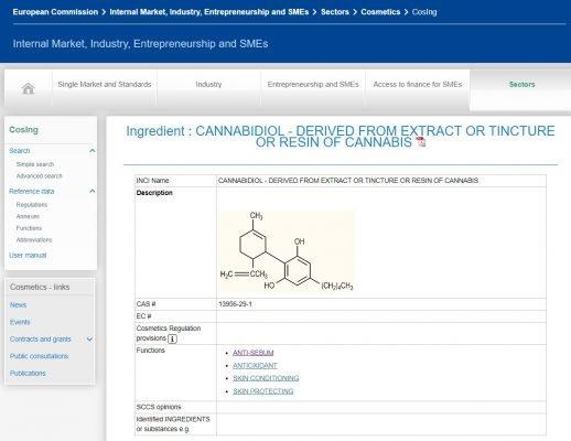 Cannabis cosing catalogue